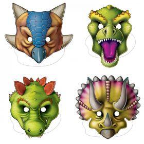 Dinosaur maske 4 stk