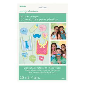 Photo Props, Baby shower, 10 stk.