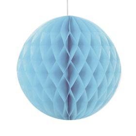 Honeycomb ball 20 cm, lyseblå