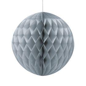 Honeycomb ball 20 cm, sølv