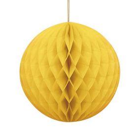 Honeycomb ball 20 cm, gul