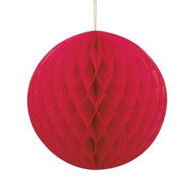 Honeycomb ball 20 cm, rød