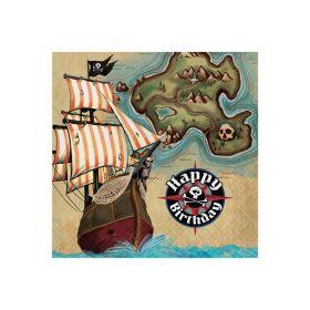 Pirat kart, 16 servietter