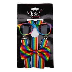 Pride sett  m/Bukseseler,Solbriller og Sløyfe