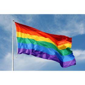 Regnbueflagg stort 150x90cm