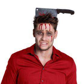Hårbøyle blodig kjøttkniv