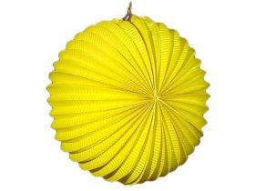Papirlykt, gul kule