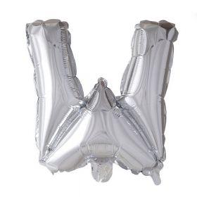 Folieballong sølvbokstav W