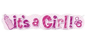 Banner, It's a girl
