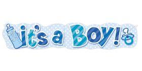 Banner, It's a boy
