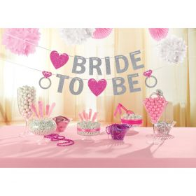 Glitter banner, Bride to be
