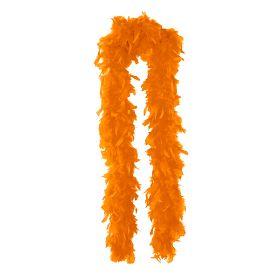 Fjærboa Oransje deluxe