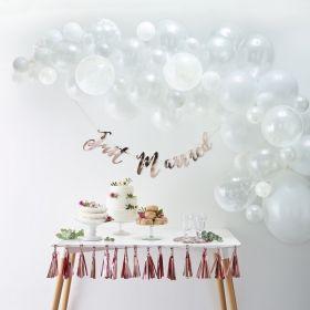Hvit ballongbue kit