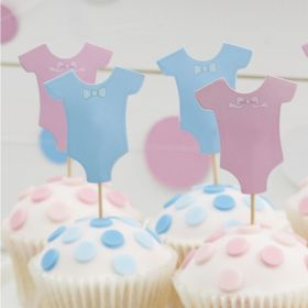Little Lady or Mini Mister Cupcake dekor