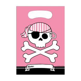 TILBUD Pirat party, 8 rosa godteposer