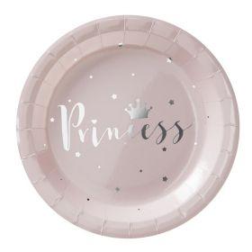 Prinsesse tallerken, 8 stk