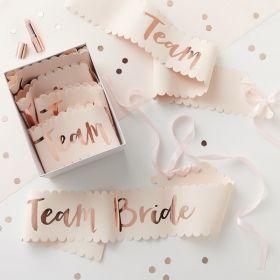 Team bride sash, 6 stk.