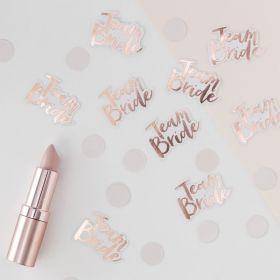 Team Bride rosegull konfetti