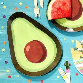 Avocado tallerkener, 8 stk.