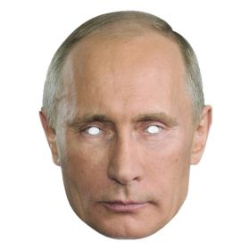Vladimir Putin pappmaske
