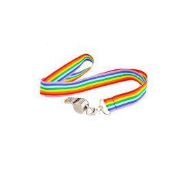 Fløyte med regnbuebånd