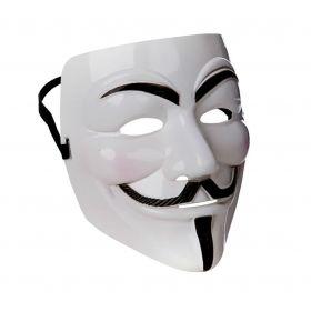 Bilde av maske anonym, inspirert av ansiktet til Guy Fawkes.