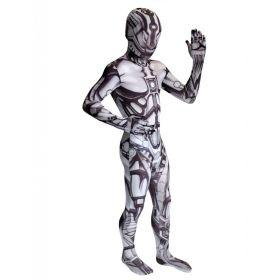Bilde av Morphsuit Andorid til barn, et tettsittende robot-kostyme