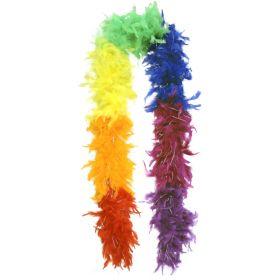 Fjærboa Multifarget m/glitter