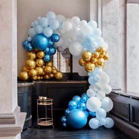 Ballongbue Blå og Gull 200 Ballonger