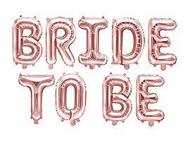 Folieballong Banner, Bride To Be, Rosegull