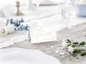 Bordkort, Branches hvit og gull, 10 stk