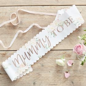 Mummy To Be Sash Med Blomster