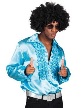 Disco skjorte, turkis, XL