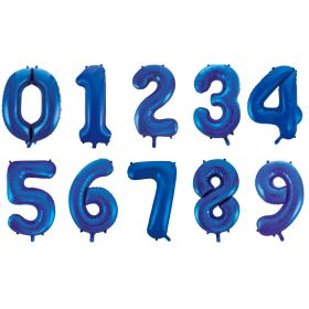 Bilde av store blå tall ballonger av folie