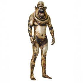 Bilde av en mann ikledd Morphsuit Boil Monster. En heldekkende drakt med motiv av en grønt monster.