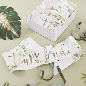 Team Bride Sash 6 stk i pakken