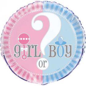 Gender Reveal Folieballong 45 cm