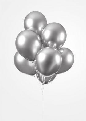 Ballonger Sølv Mirror, 30 cm, 25 stk