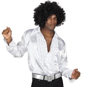 Hvit disco skjorte