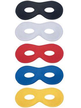 Bilde av Farfalla øyemaske i fargene sort, hvit, rød, blå og gul.