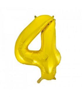 Folieballong gull tall Nr. 4