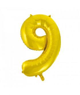 Folieballong gull tall Nr. 9