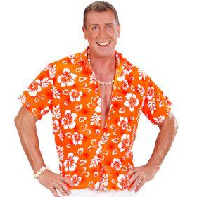 Oransje Hawaiiskjorte
