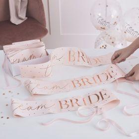 Team Bride Sash 6 stk