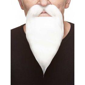 Bilde av en mann med hvitt løsskjegg.