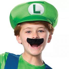Luigi hatt og bart til barn