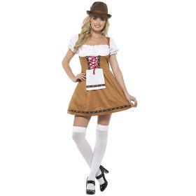 Lysebrun Oktoberfestkjole