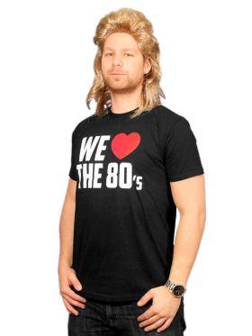 T-skjorte We love the 80's, sort