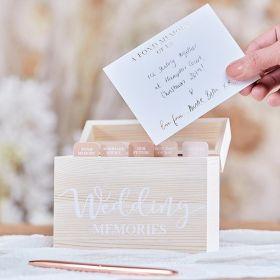 Treeske Til Bryllups Minner m 75 Kort