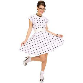 50-talls Polkadot kjole